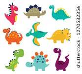 funny cartoon dinosaurs... | Shutterstock .eps vector #1270532356