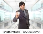 happy male doctor  at the...   Shutterstock . vector #1270537090