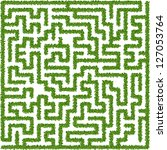 maze made from leaves | Shutterstock .eps vector #127053764