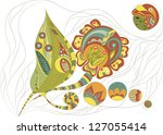 illustration of russian... | Shutterstock .eps vector #127055414