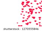 valentine day pink red hearts... | Shutterstock . vector #1270555846
