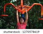 kid playing with exercise... | Shutterstock . vector #1270578619