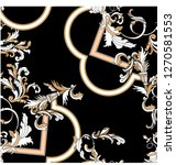 baroque seamless pattern with... | Shutterstock .eps vector #1270581553