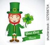 illustration of saint patrick's ... | Shutterstock .eps vector #127058714