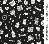 black and white seamless...   Shutterstock .eps vector #1270587460