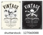 vector skull frame set. easy to ... | Shutterstock .eps vector #127060088
