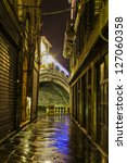 Narrow Alley In Venice With...
