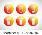 colourful battery charging... | Shutterstock .eps vector #1270607803