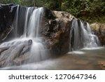 landscape photo view waterfall... | Shutterstock . vector #1270647346