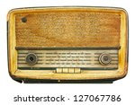 radio retro isolate on white | Shutterstock . vector #127067786