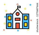 school   building   flag     Shutterstock .eps vector #1270687666