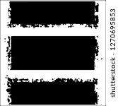 set of grunge textures on white ... | Shutterstock .eps vector #1270695853