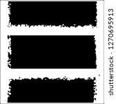 set of grunge textures on white ... | Shutterstock .eps vector #1270695913