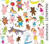 Seamless Pattern Of Vector...