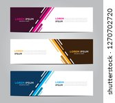 banner background.modern vector ... | Shutterstock .eps vector #1270702720