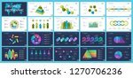 set of statistics or strategy... | Shutterstock .eps vector #1270706236