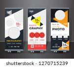 roll up design set. standee... | Shutterstock .eps vector #1270715239
