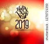 abstract new year 2019... | Shutterstock .eps vector #1270721350