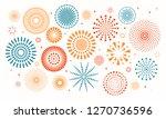 colorful fireworks on white... | Shutterstock .eps vector #1270736596