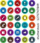 white solid icon set  shower... | Shutterstock .eps vector #1270747849