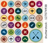 set of scout merit badges for... | Shutterstock .eps vector #127074938