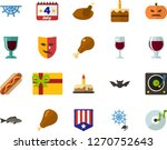 color flat icon set   a glass... | Shutterstock .eps vector #1270752643