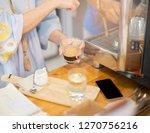 women owner s coffee shop... | Shutterstock . vector #1270756216