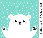 white polar bear holding hands...   Shutterstock . vector #1270758490