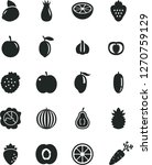 solid black vector icon set  ... | Shutterstock .eps vector #1270759129