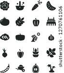 solid black vector icon set  ... | Shutterstock .eps vector #1270761106