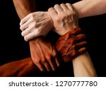 multiracial group with black... | Shutterstock . vector #1270777780