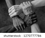 multiracial group with black... | Shutterstock . vector #1270777786