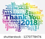 thank you 2018 word cloud in... | Shutterstock .eps vector #1270778476