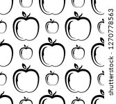 apple icon seamless pattern ... | Shutterstock .eps vector #1270778563