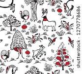 russian fairy folklore.... | Shutterstock .eps vector #1270778686