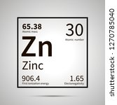 zinc chemical element with... | Shutterstock .eps vector #1270785040