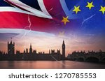 no deal brexit concept image of ... | Shutterstock . vector #1270785553