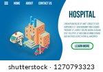 hospital concept banner....   Shutterstock . vector #1270793323