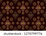 vintage golden elements in... | Shutterstock . vector #1270799776