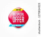 big special offer shop now label | Shutterstock .eps vector #1270814323