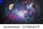 nebula and galaxies in space.... | Shutterstock . vector #1270816579