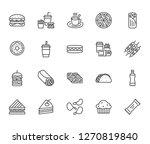 junk food flat line icons set....   Shutterstock .eps vector #1270819840
