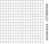 doodle grid vector pattern....   Shutterstock .eps vector #1270830400
