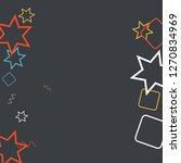geometric memphis background.... | Shutterstock .eps vector #1270834969