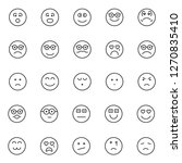 emoticon and emoji isolated... | Shutterstock .eps vector #1270835410