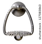 a metal door knocker with the... | Shutterstock . vector #127083863