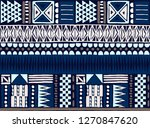 tribal vector ornament.... | Shutterstock .eps vector #1270847620