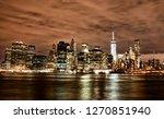 manhattan skyline by night  new ... | Shutterstock . vector #1270851940