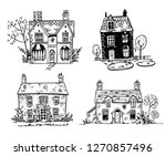 Set Of Pretty English Cottages...