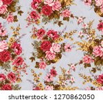 Watercolor Rose Flower Pattern...